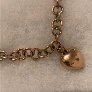 Fossil Brand Heart Charm bracelet